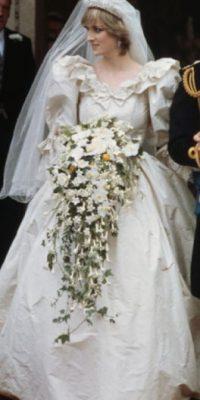 El vestido de bodas de la Princesa Diana, uno de los más copiados de la Historia. Foto:vía Getty Images
