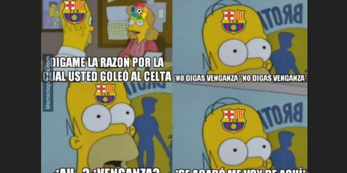 Memes y burlas por la exhibición de Barcelona frente al Celta