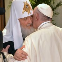 El objetivo principal era un encuentro con el líder religioso de la iglesia católica el Papa Francisco Foto:AP