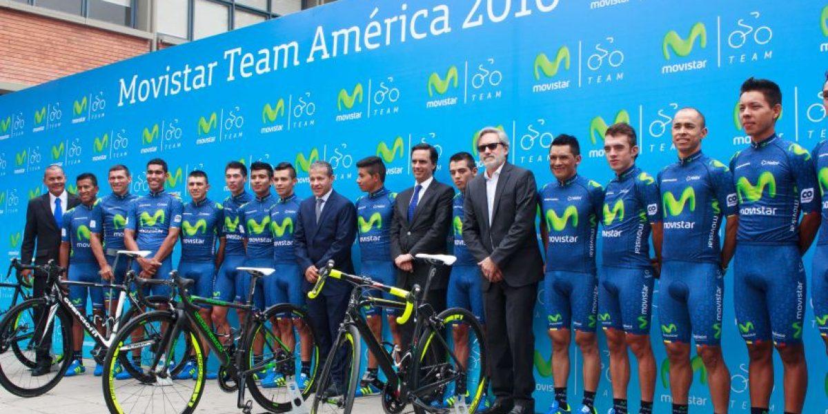 Presentación del Movistar Team América, temporada 2016