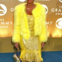 Mary J. Blige luciendo a Piolín en su vestido. Foto: vía Getty Images