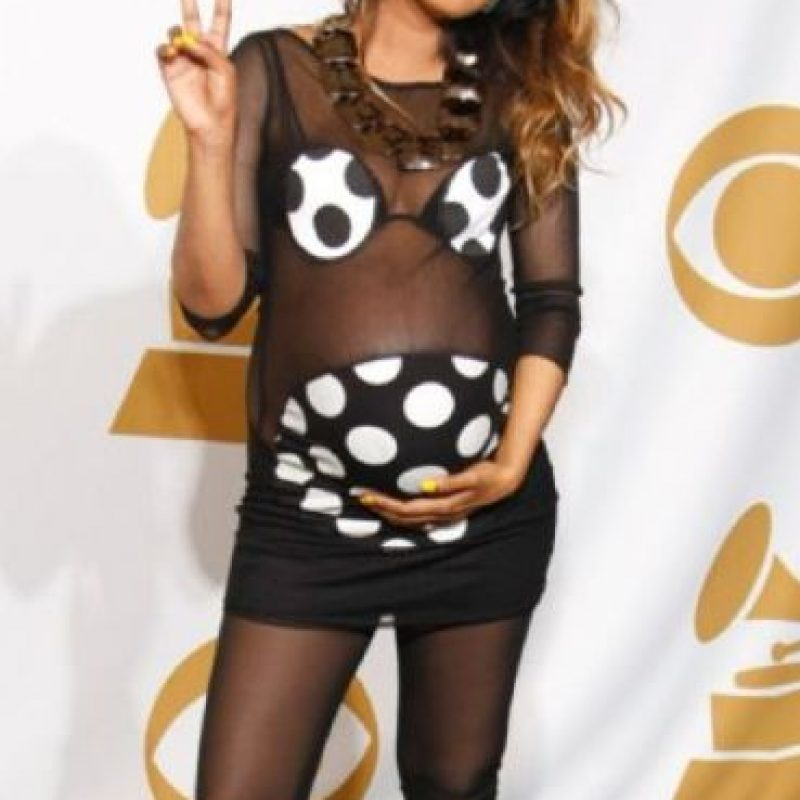 M.I.A en el peor vestido hecho para una embarazada por siempre jamás. Foto:vía Getty Images