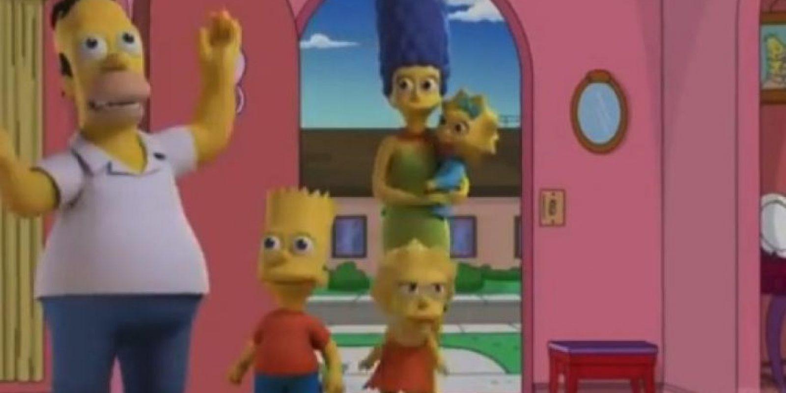 """Los Simpson"" en 3D Foto:YouTube/Jim Jam"