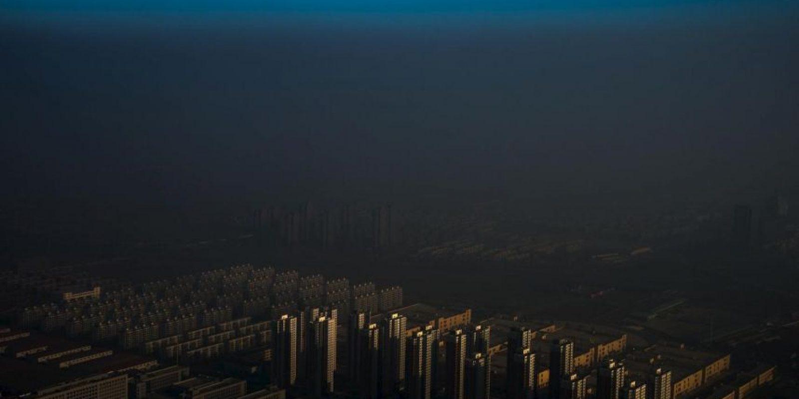 Zhang Lei. Una ciudad en el norte de China envuelta en bruma. Foto:worldpressphoto.org