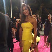 Francisca Lachapel, Nuestra Belleza Latina República Dominicana, en un hermoso péplum color amarillo. Foto:vía Twitter