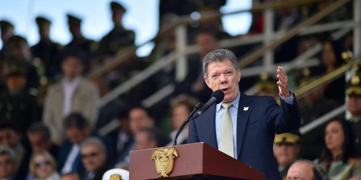 """""""Si gana el 'no' en plebiscito, termina proceso de paz"""": Santos"""