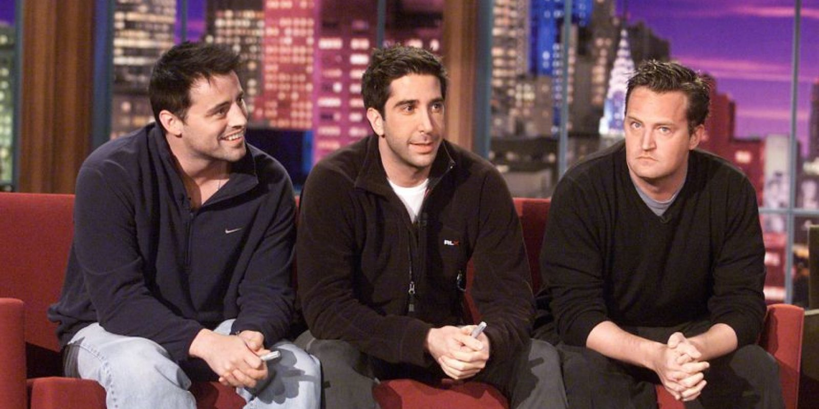 Matt LeBlanc (Joey), Matthew Perry (Chandler) y David Schwimmer (Ross). Foto: Getty Images