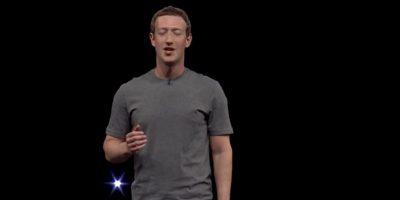 Mark lució su clásica camiseta gris. Foto:Samsung