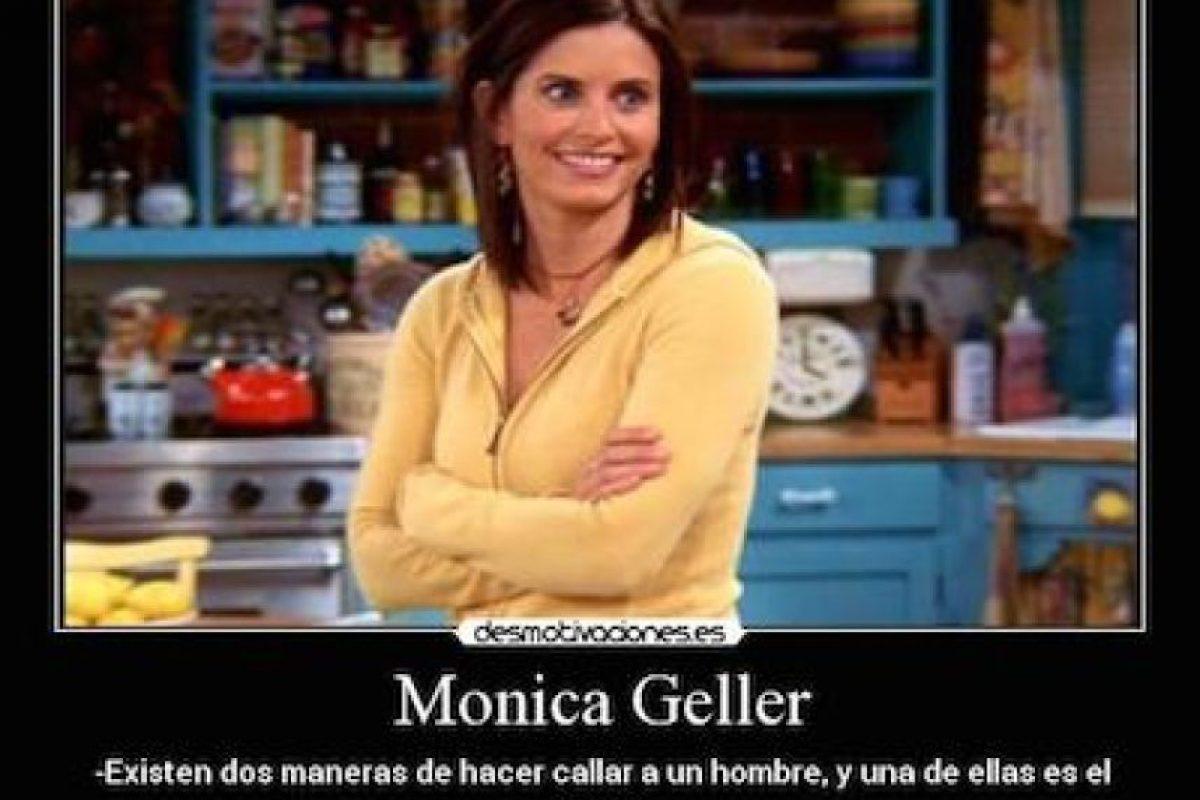 Mónica siempre tiene los mejores consejos Foto:Internet