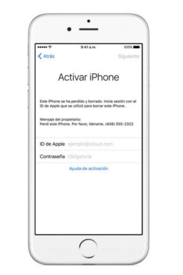 También pueden borrar los datos del dispositivo de forma remota. Foto:Apple