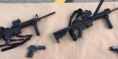 Autoridades encontraron un gran armamento en manos de la pareja. Foto:AFP