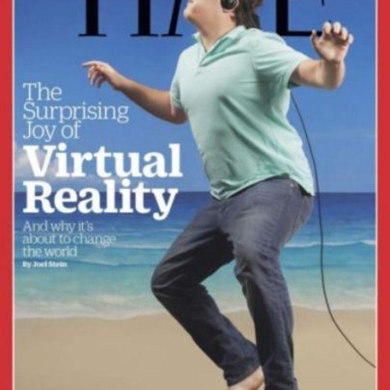 TIME lanzó una portada haciendo referencia a la realidad virtual y así se burlaron de ella. Foto:Vía Twitter