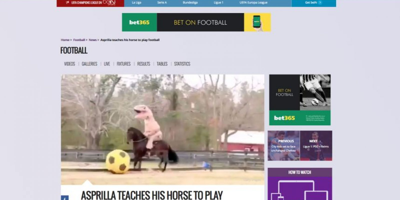 Foto:Captura de pantalla de la página www.beinsports.com