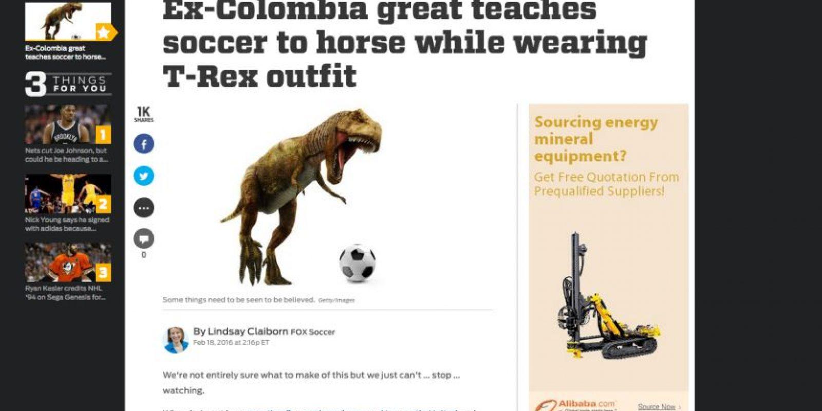 Foto:Captura de pantalla de la página www.foxsports.com