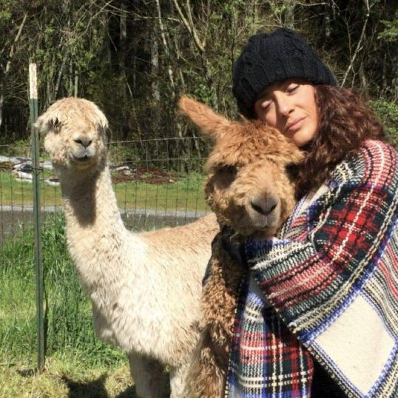 La actriz disfruta abrazar a sus mascotas. Foto:vía instagram.com/salmahayek