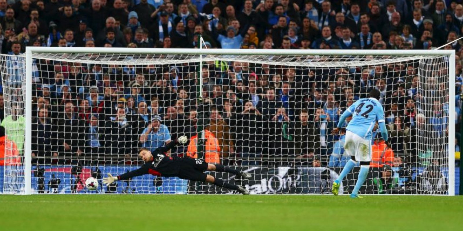 Yaya Touré anotó el penal del triunfo Foto: Getty Images