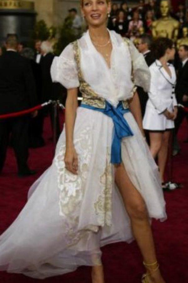 Uma Thurman como lecherita moderna. Foto:vía Getty Images