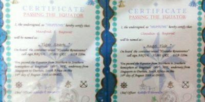 Así como certificados de navegación Foto:Facebook.com/barobo.policestation