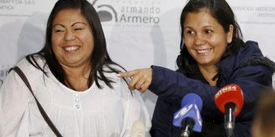 Jaqueline Vásquez Sánchez (izq) y Lorena Santos (der). Foto:AP