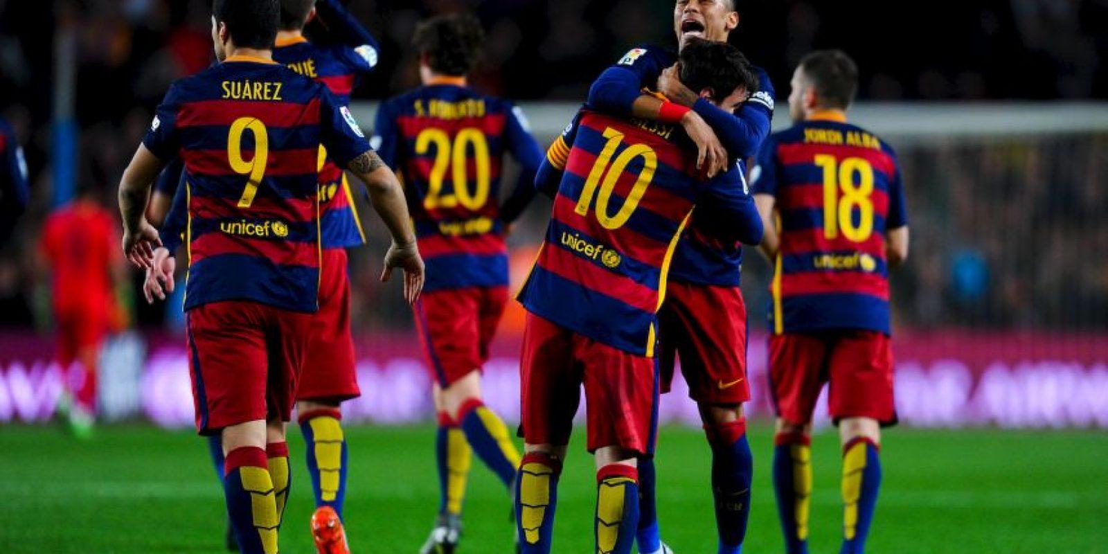 Messi llegó a 16 dianas en la Liga Foto:Getty Images