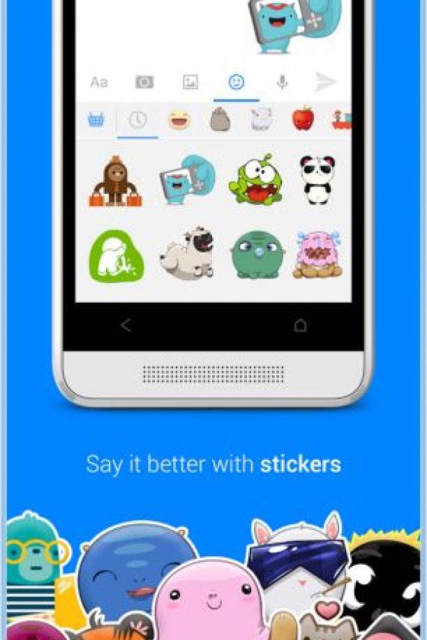 También existen muchos stickers para que puedan comunicar mejor sus emociones. Foto:Play Store