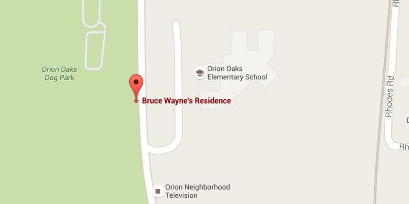 Según Google Maps, la casa de Bruno Díaz se encuentra en las afueras de Detroit. Foto:Google Maps
