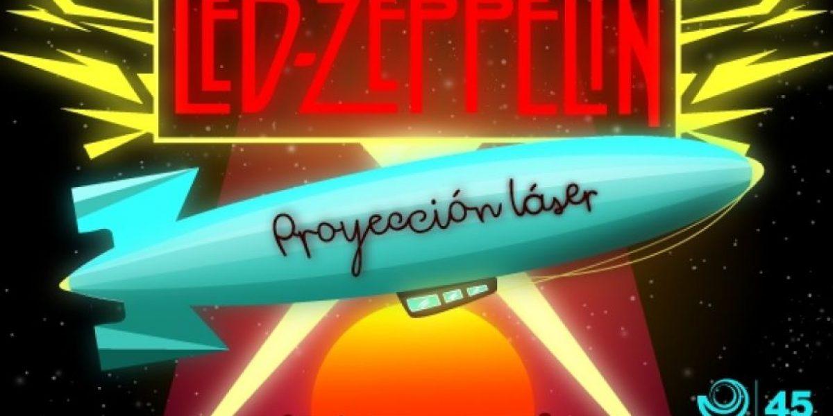 Led Zeppelin se toma el Planetario de Bogotá en su proyección láser