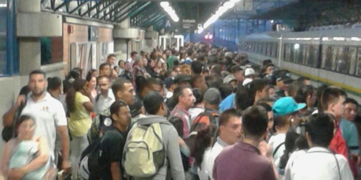 La Estación del Metro El Poblado de Medellín está cerrada