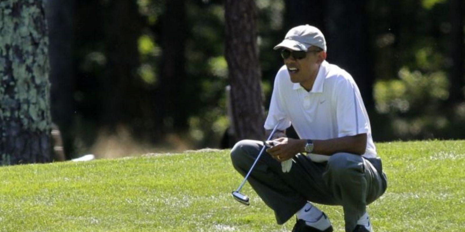 Pero también le gusta practicar golf. Foto:Getty Images