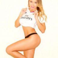 """La """"novia de la Copa América"""" ama a Chile, pero en su corazón también está el Real Madrid. Foto:Vía instagram.com/daniellachavezc"""
