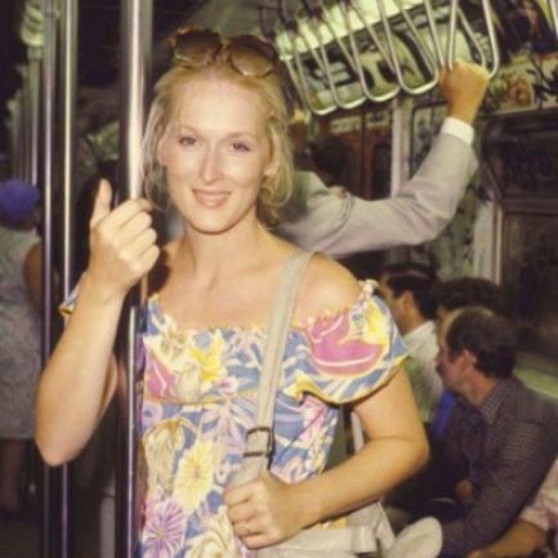 Meryl Streep Foto:Vía celebritiesonthesubway.tumblr.com