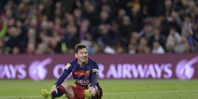 Las caras de frustración de Messi tras su olviable Clásico Foto:AFP