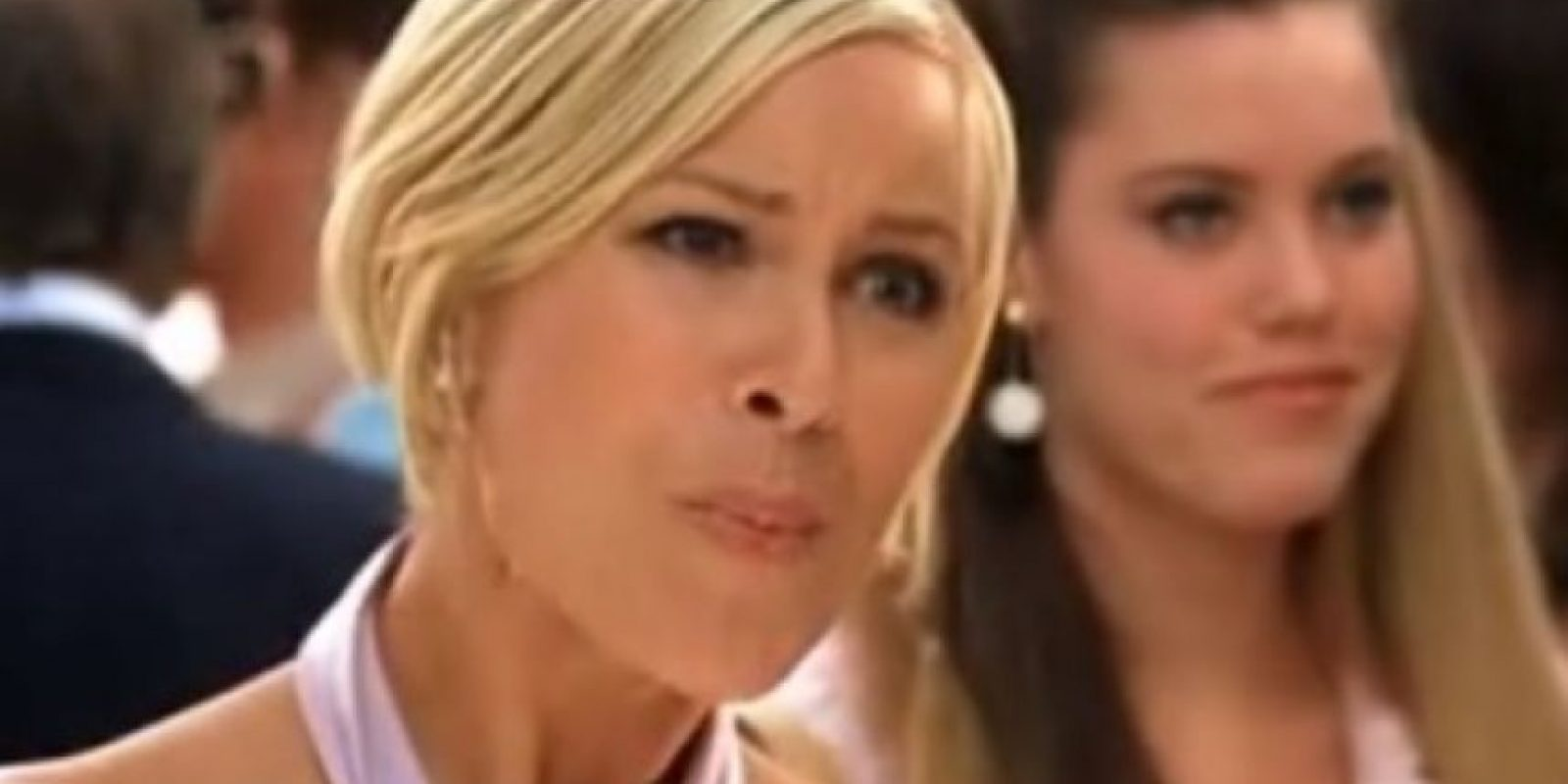 """Brittany Daniel era """"Megan Vandergeld"""", la hermana de """"Heather"""". Se vanagloriaba de aparecer en televisión por un comercial de productos contra la hemorroides. Foto:Wayans Bros. Production"""