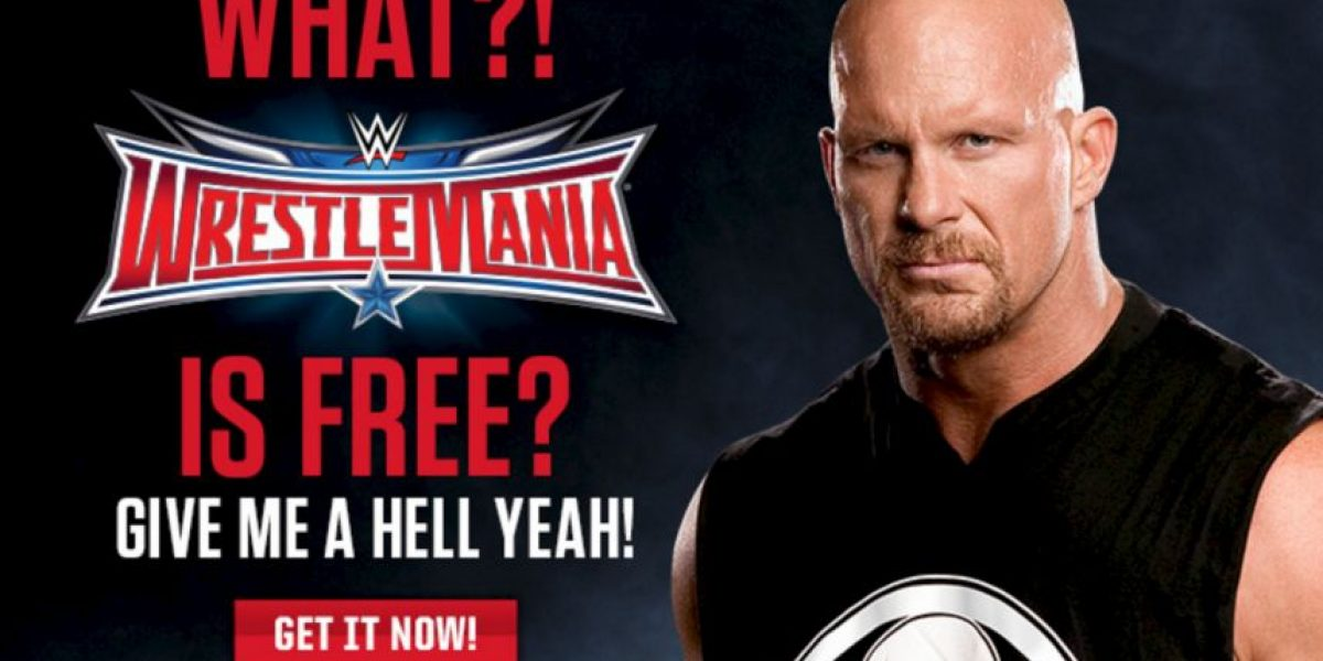 Así podrán ver Wrestlemania 32 gratis por internet