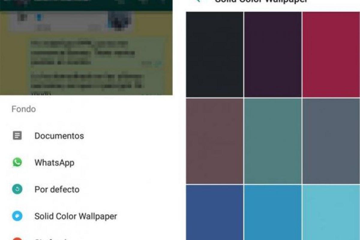 Una de ellas es la posibilidad de elegir diferentes colores para sus conversaciones. Foto:WhatsApp