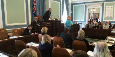 Gunnlaugsson, líder del Partido Progresista, entró en el Parlamento islandés en 2009 y a finales de ese año vendió su 50% de participación en Wintris a su esposa por un dólar. Foto:AFP
