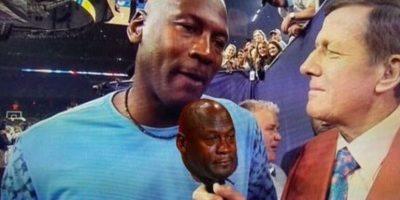 "Miren los mejores memes de ""Jordan Crying"" Foto:Twitter"