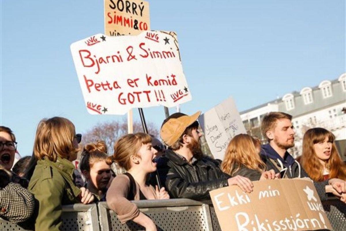 """Islandia vivió intensas protestas tras el escándalo """"Panama Papers"""" Foto:AP"""
