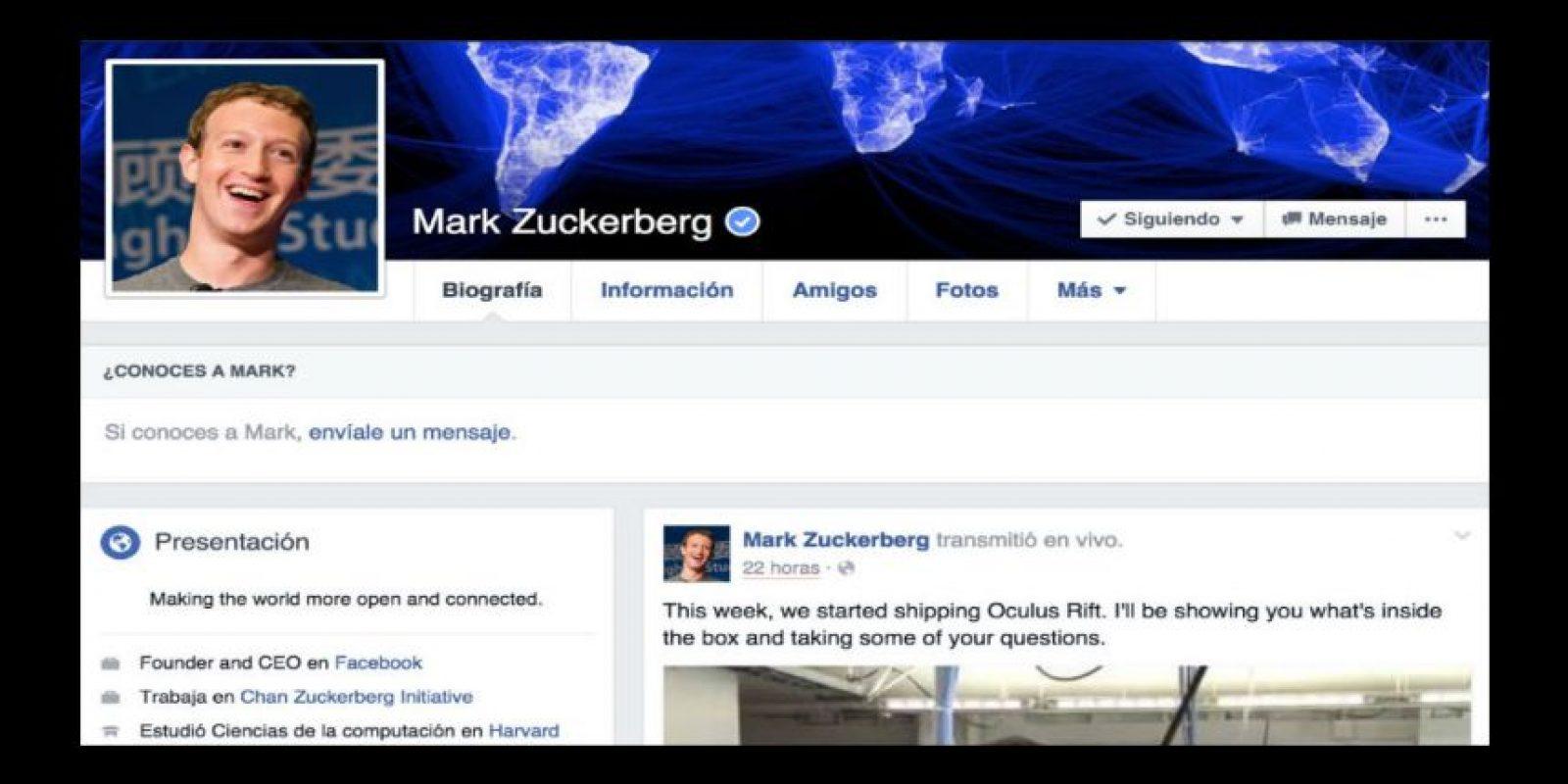 En 2010, el Comité Español de Representantes de Personas con Discapacidad (Cermi) exigió a Zuckerberg que hiciera la red social más amigable para personas discapacitadas. Foto:Facebook