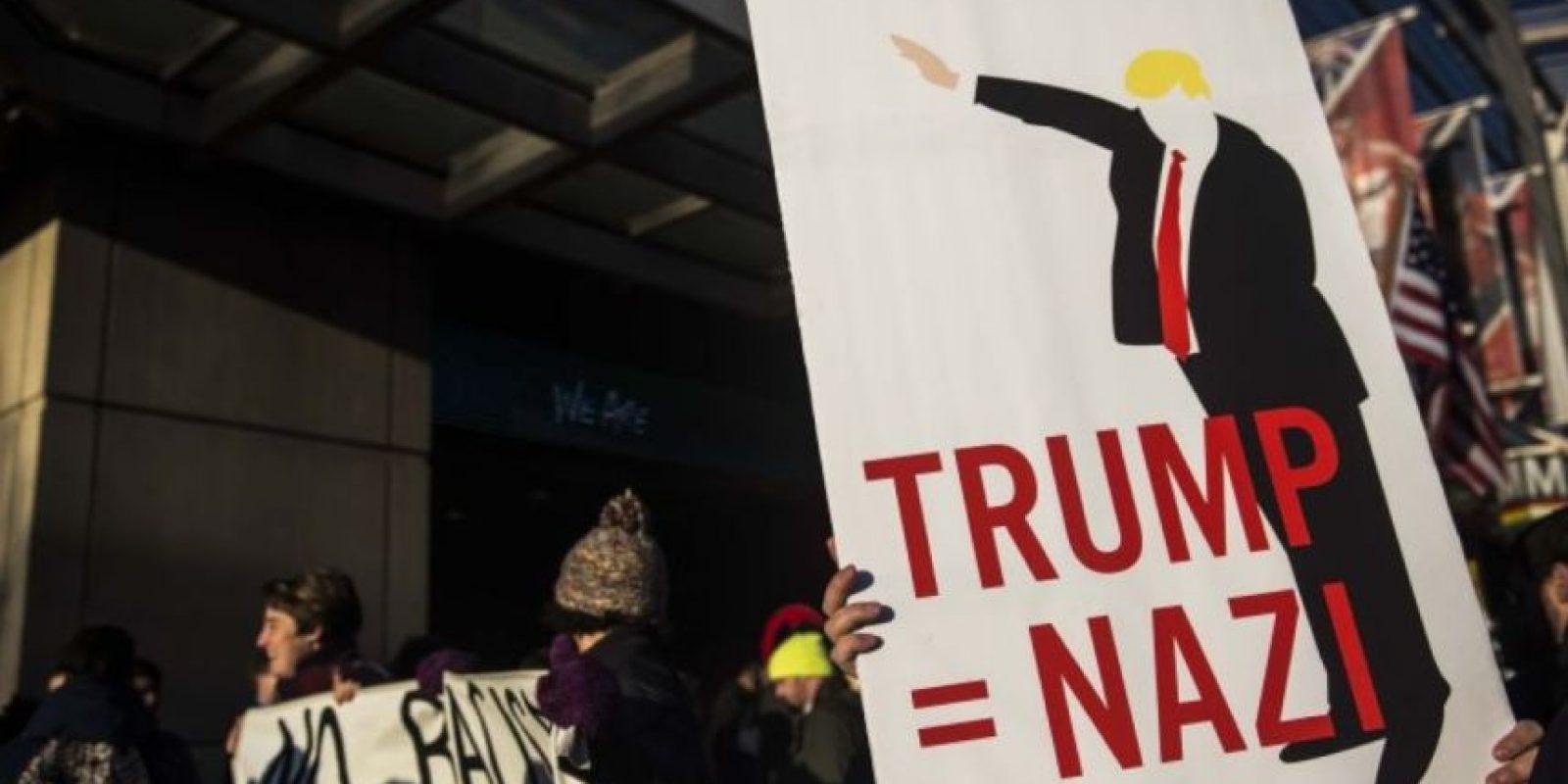 O en lugares donde da discursos de campaña. Foto:Getty Images