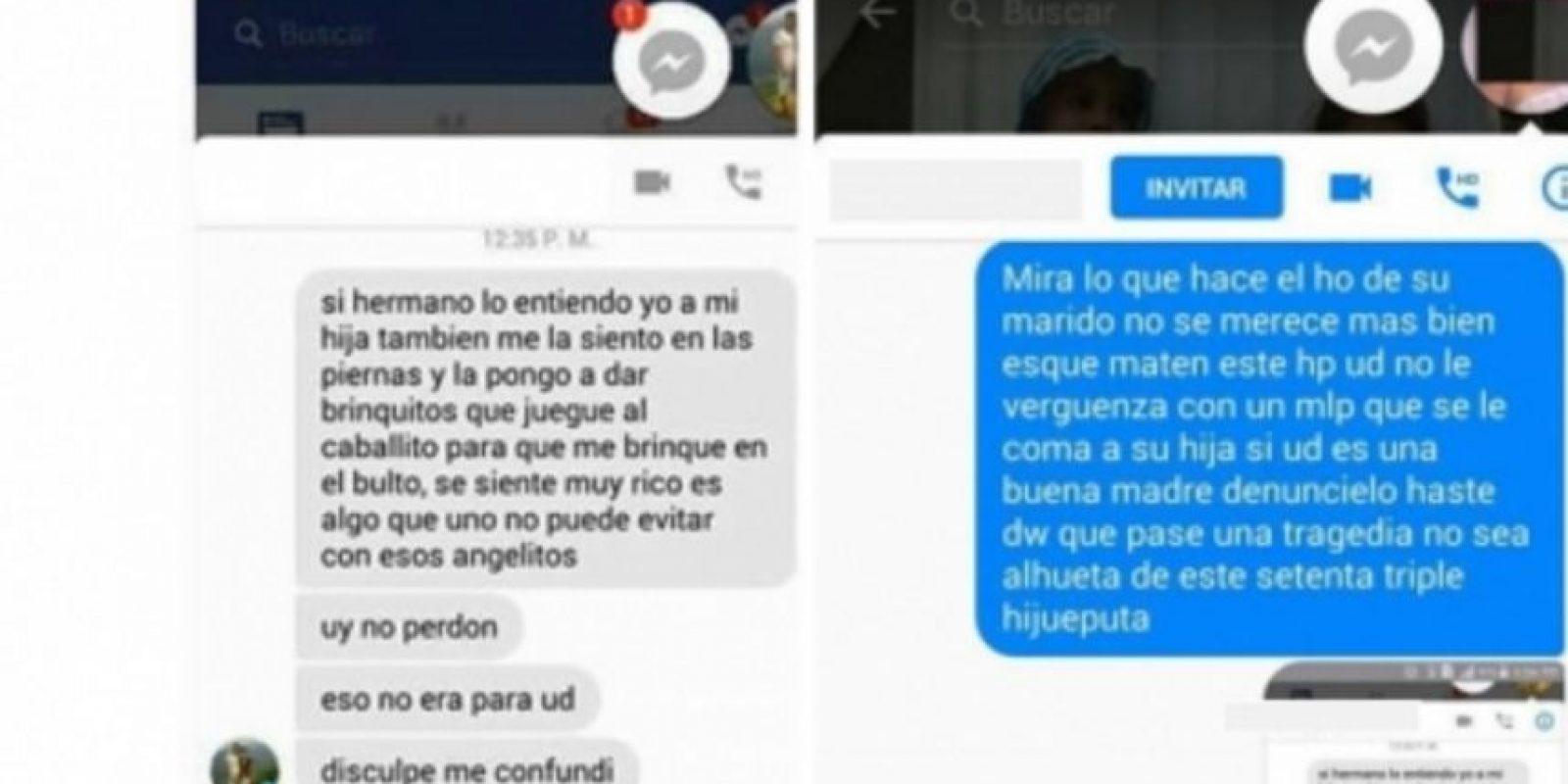 Estos son los pantallazos de los mensajes que circulan en redes sociales. Foto:Tomada de Facebook