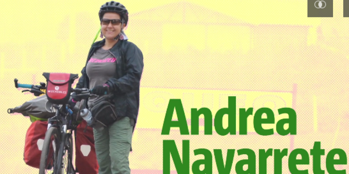 La colombiana que recorre Sudamérica en bici para dar ejemplo a mujeres