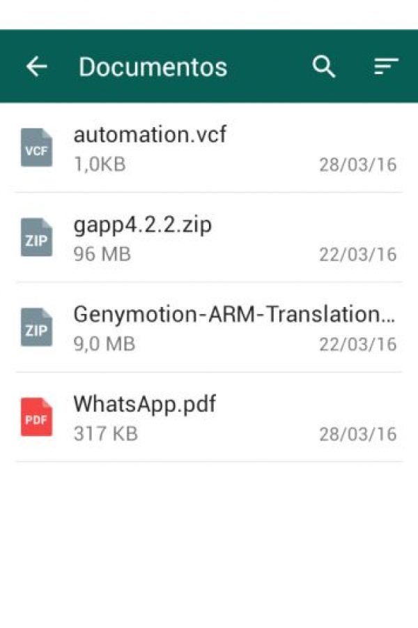 Una de las nuevas funciones es poder mandar archivos comprimidos. Foto:WhatsApp