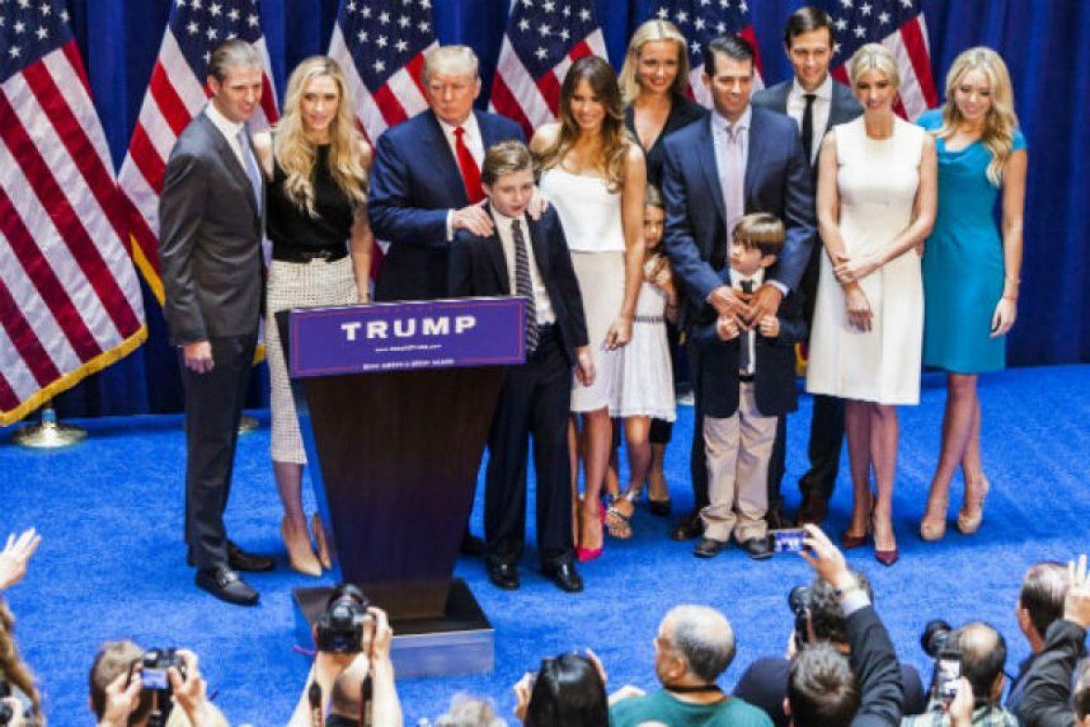 En total Trump tiene cinco hijos: Donald Jr., Ivanka, Eric, Tiffany y Barron. Foto:Getty Images