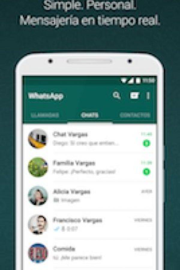 En WhatsApp puedes comunicarte con gente a través de su número telefónico. Foto:WhatsApp