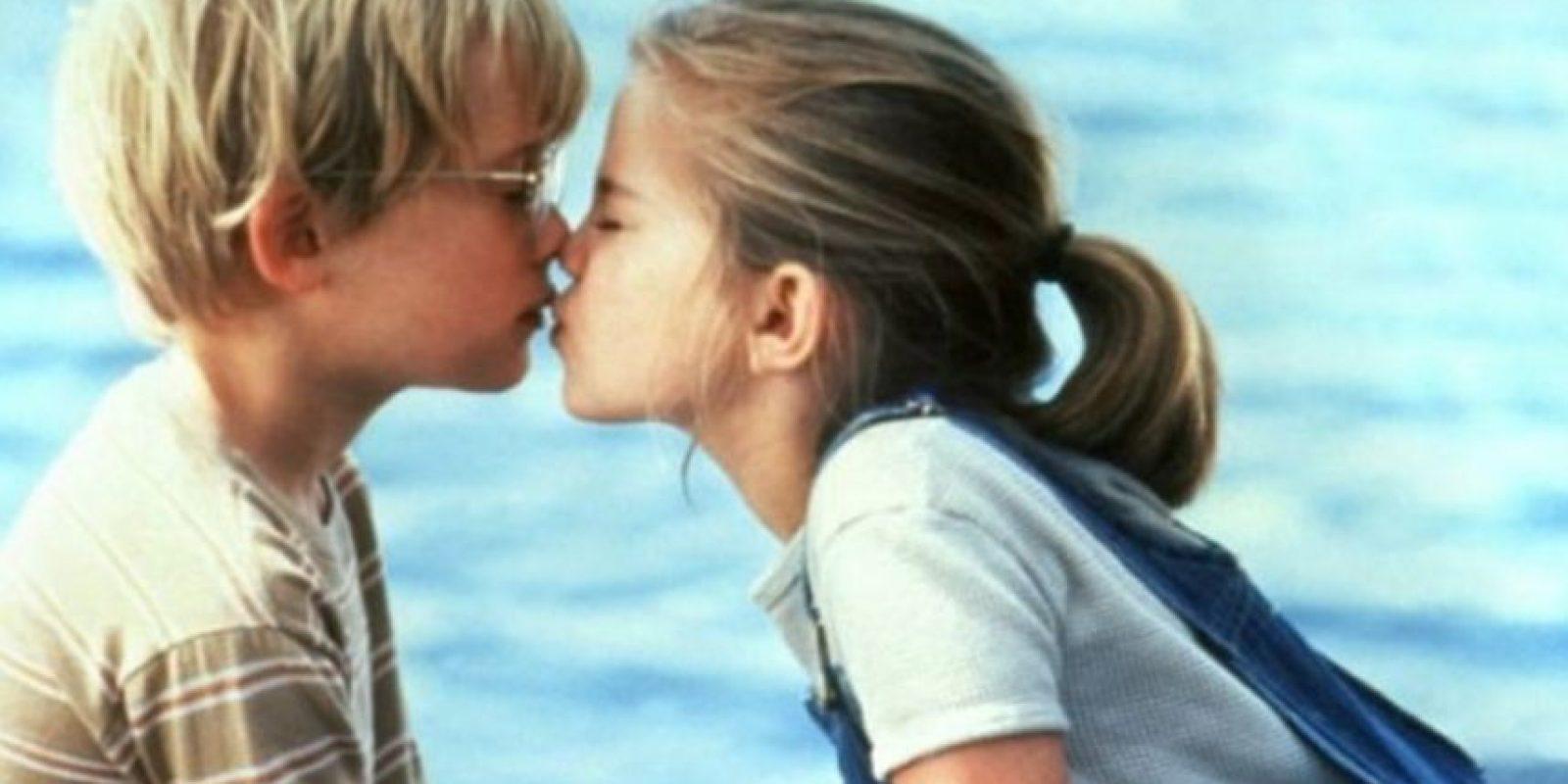 """""""My Girl"""": Thomas J. Sennett (Macauley Culkin) y Vada Sultenfuss (Anna Chlumsky). Foto:Tumblr"""