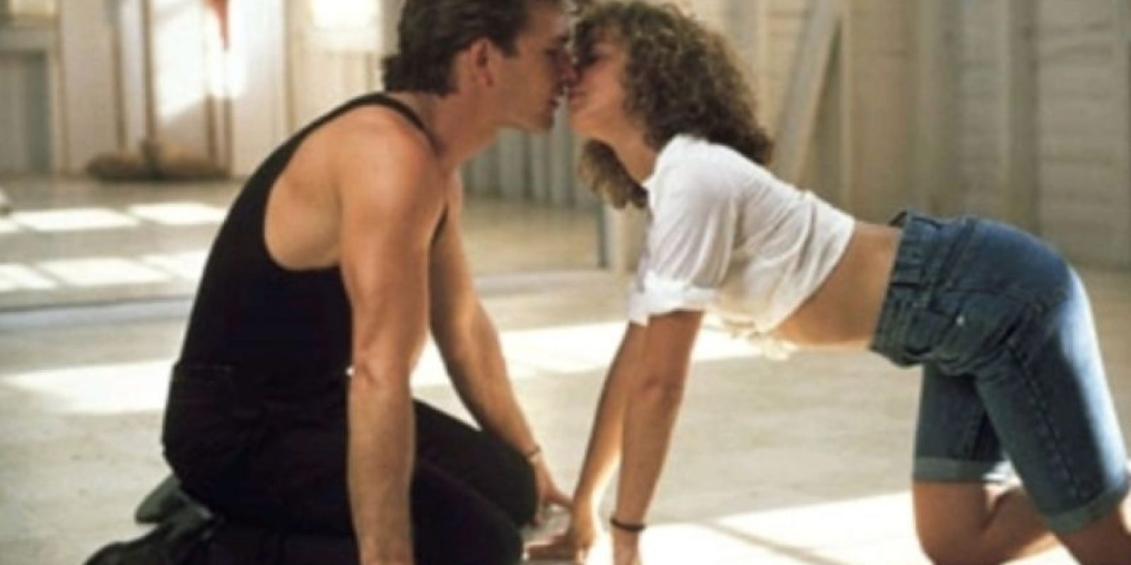 """Dirty Dancing"": Johnny Castle (Patrick Swayze) y Frances 'Baby' Houseman (Jennifer Grey). Foto:Tumblr"