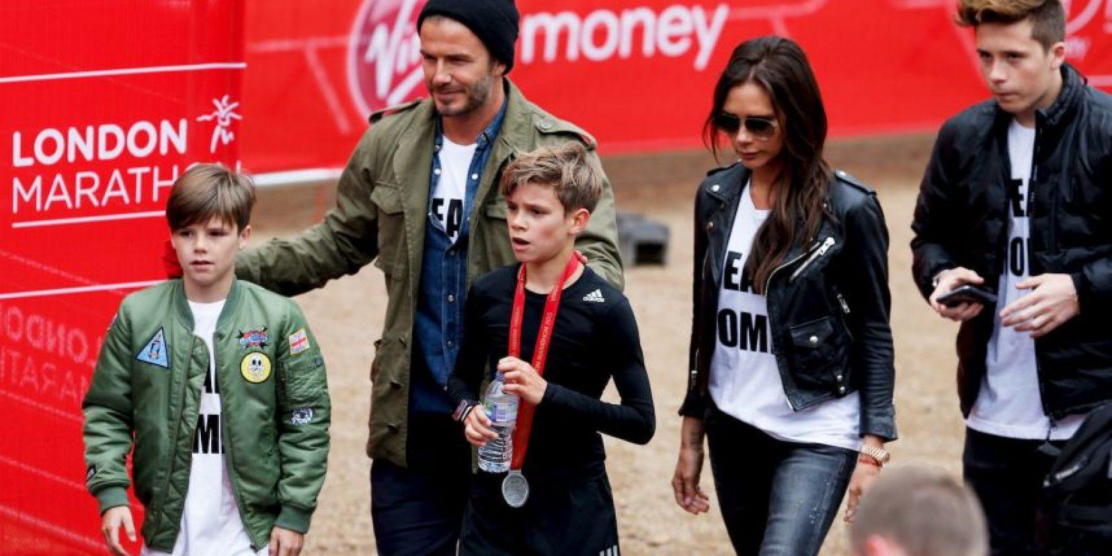 David, Brooklyn, Romeo, Cruz y Victoria. Foto:Getty Images