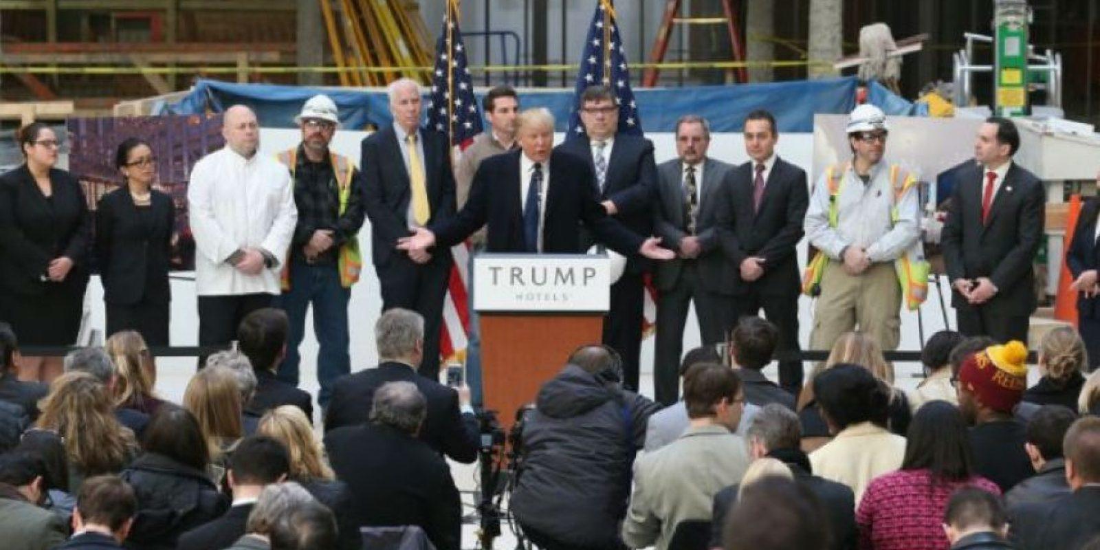 Seis meses antes de Trump anunció su carrera presidencial con Lewandowski como jefe de campaña. Foto:Getty Images
