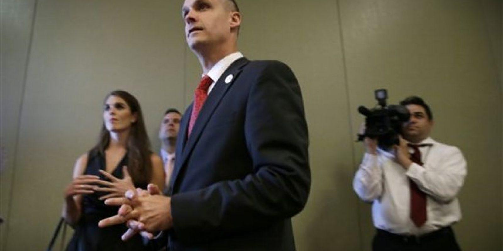 Corey Lewandowski y Donald Trump Foto:AP